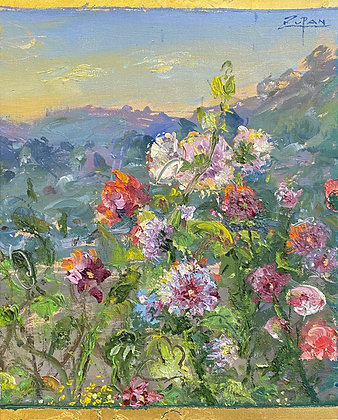 Bruno Zupan - Hollyhocks In Chopins Garden