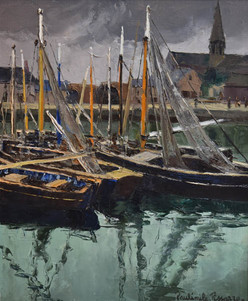 "Paulémile Pissarro, ""Port en Bessin"""