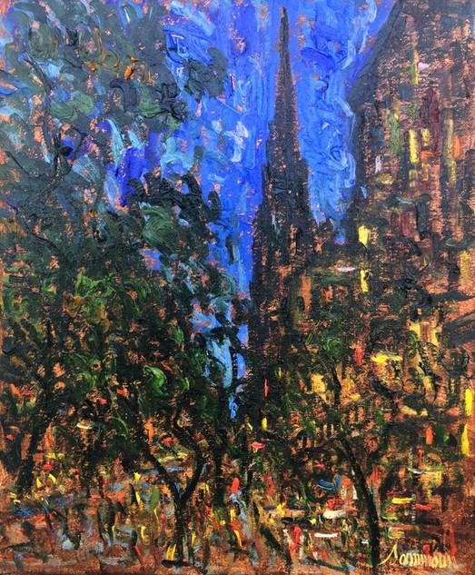 "Samir Sammoun ""Cafe la Nuit, Newbury Street"""