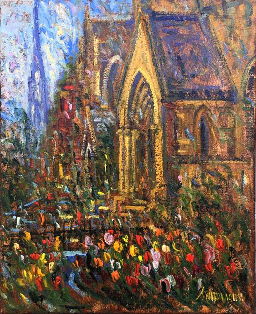"""Samir Sammoun """"Newbury Street Tulips"""""""