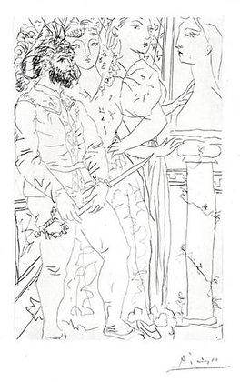 Pablo Picasso - Trois Comédiens Avec Buste de Marie-Thérèse