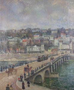 """George Manzana Pissarro, """"Le Pont de Saint-Cloud"""""""