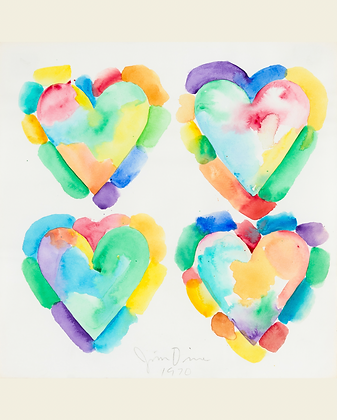 Jim Dine - Four Hearts