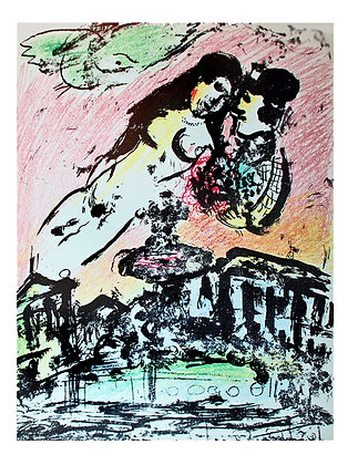 Marc Chagall - Lovers' Heaven