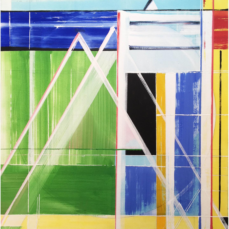 "Richard Roblin, Spring Shower, 40"" x 40"" Oil on Canvas"