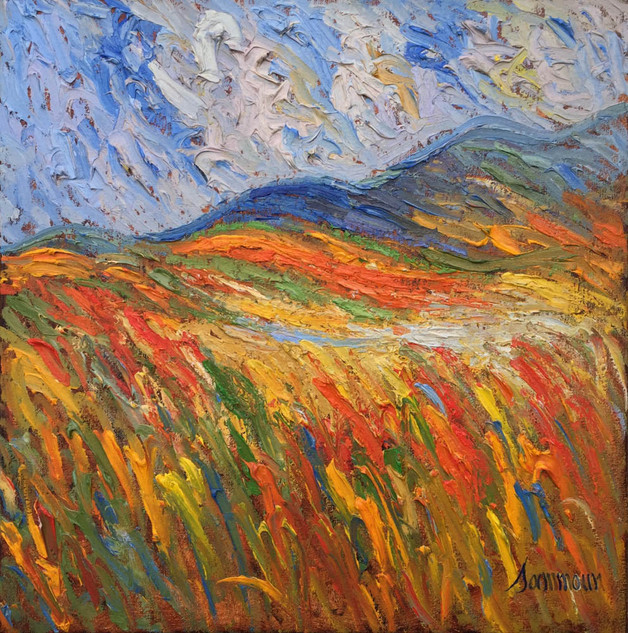 """Samir Sammoun """"Wheat Summer, Bekaa Valley"""""""