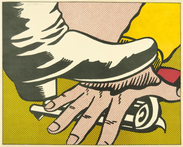 """Roy Lichtenstein, """"Foot and Hand"""""""
