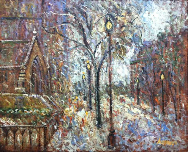 "Samir Sammoun ""Snow, Newbury Street,  Boston"""