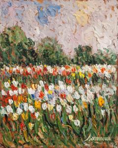 """Samir Sammoun, """"Tulips, Boston Park"""""""