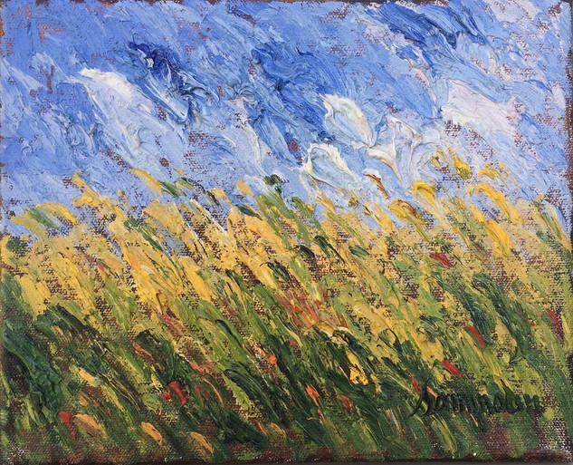 "Samir Sammoun ""Wheat Field, Study"""
