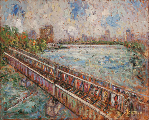 "Samir Sammoun, ""Head of the Charles, le pont des artists"""