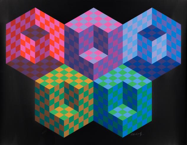 """Victor Vasarely, """"Hexa 5"""""""