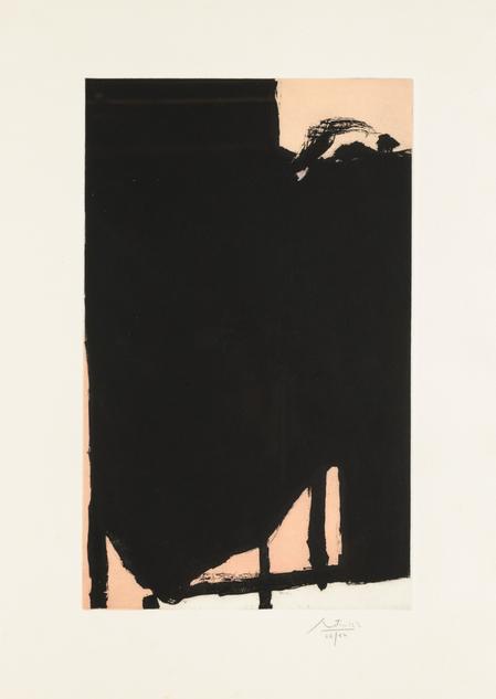 """Robert Motherwell, """"Elegy Fragment II"""""""
