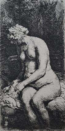 Rembrandt Harmensz Van Rijn - Seated Naked Woman