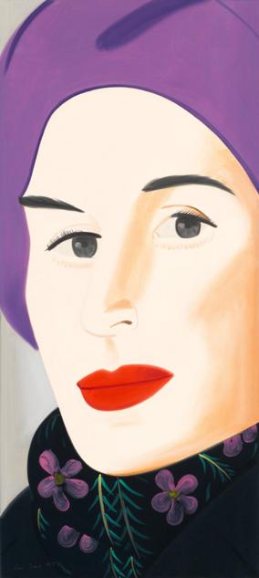 """Alex Katz, """"Purple Hat (Ada)"""""""
