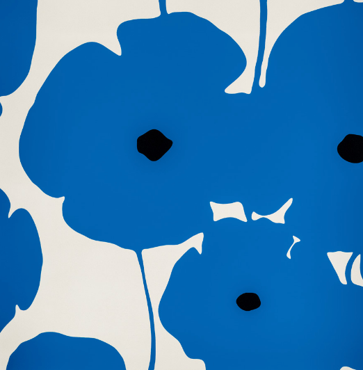 "Donald Sultan, ""Blue Poppies, 2018"""