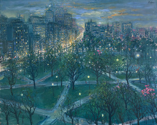 Boston Skyline and Public Gardens