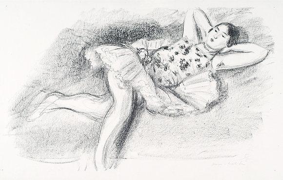 Henri Matisse - Danseuse Étendue au Divan [Mains À la Nuque]