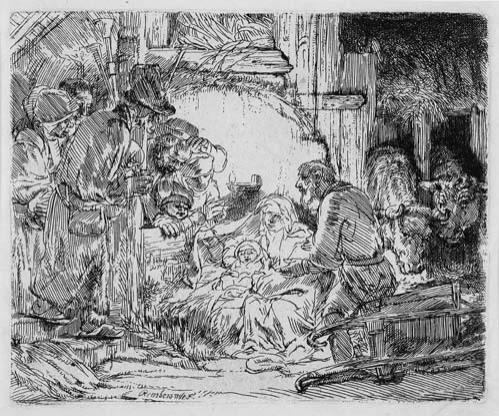 Rembrandt Harmensz Van Rijn - The Adoration of the Shepherds