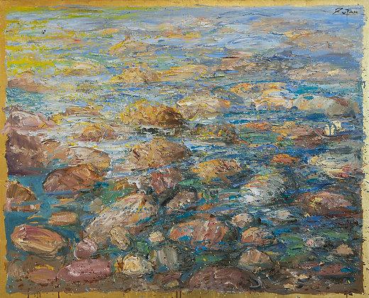 Bruno Zupan - Rocks and Sea, Green Tones