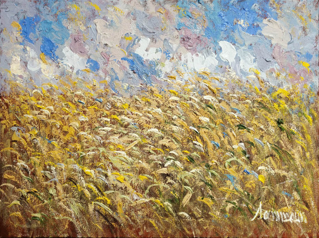 "Samir Sammoun ""Wheat Fields at Dusk"""