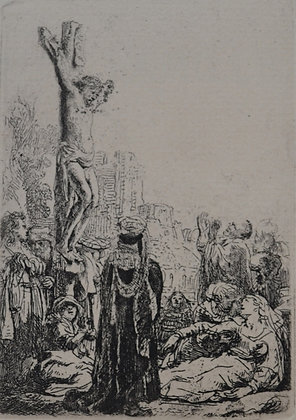 Rembrandt Harmensz Van Rijn - The Crucifixion Small Plate