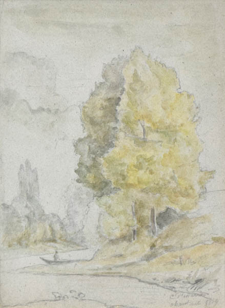 """Camille Pissarro, """"Arbres au bord d'une Rivière"""""""