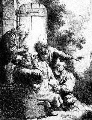 Rembrandt Harmensz Van Rijn - Joseph's Coat Brought to Jacob
