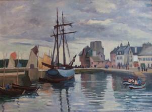 """Ludovic-Rodo, Pissarro, """"Concarneau Harbour, Brittany"""""""