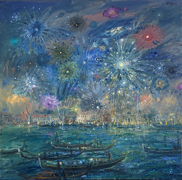 Fireworks over Redentore
