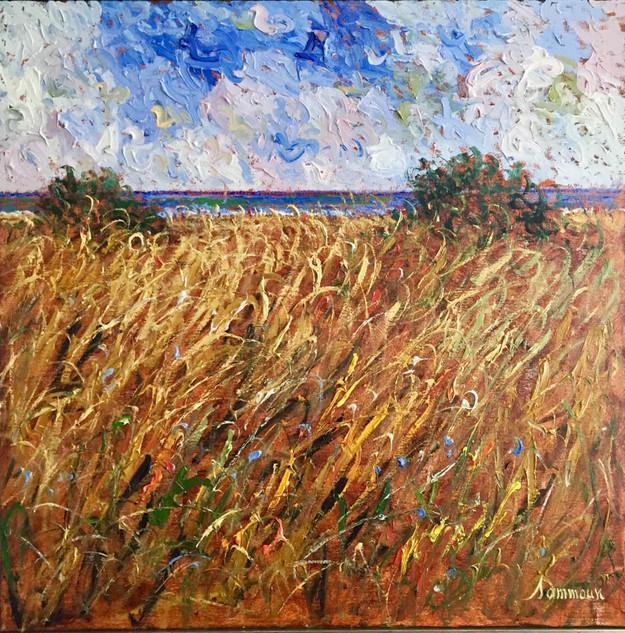 """Samir Sammoun """"Wheat Field, Window on the Meditteranean Sea"""""""