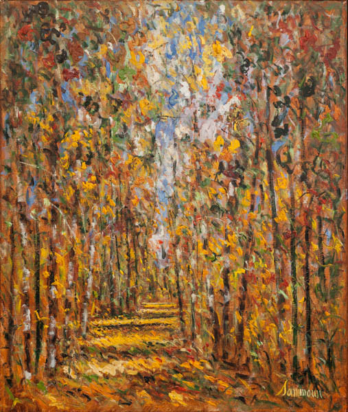 "Samir Sammoun, ""Autumn, Birches"""