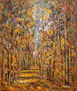 "Samir Sammoun, ""Autumn, Birches"""