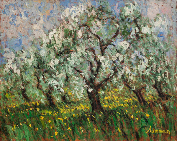 "Samir Sammoun, ""Apple Orchard, Ste-Hilaire"""