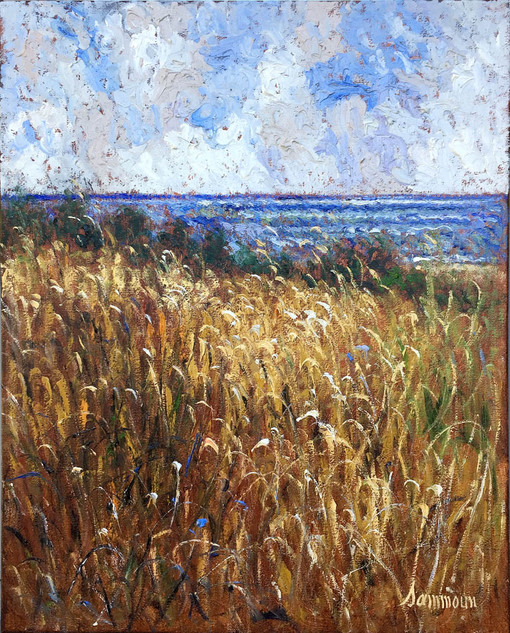 "Samir Sammoun ""Wheat Field and the Mediterranean Sea"""