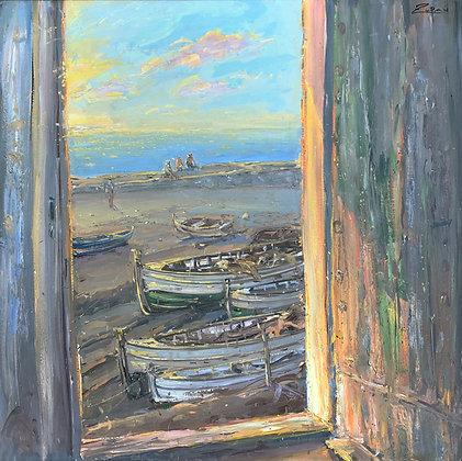 Bruno Zupan - Door By The Sea At Sunset