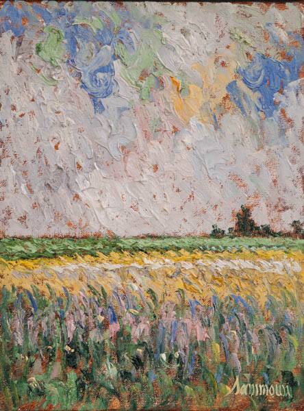 "Samir Sammoun, ""Lavender and mustard field"""