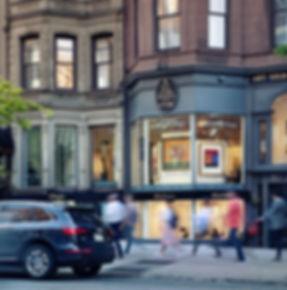 boston art galleries newbury street in US