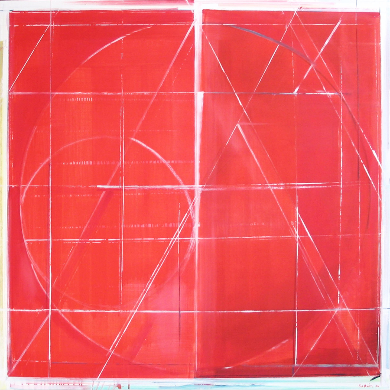 "Richard Roblin, Shakti,  54 x 54"" Oil on Canvas"