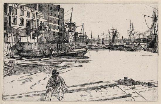 James Abbott McNeill Whistler - Eagle Wharf