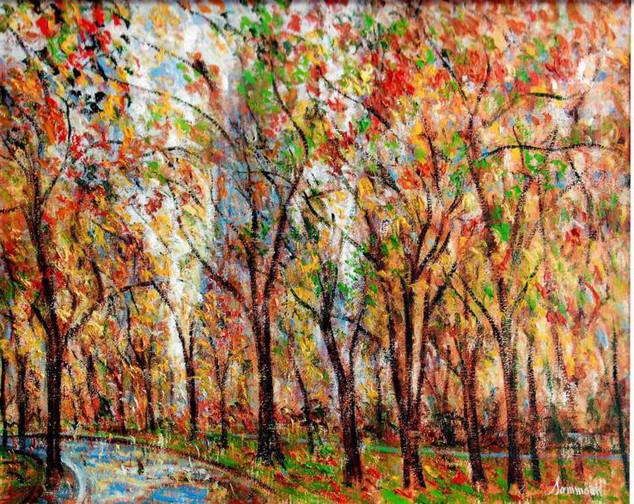 "Samir Sammoun ""Central Park, Autumn"""