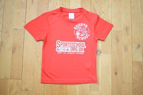 Sports School Saturday T-shirt - RED
