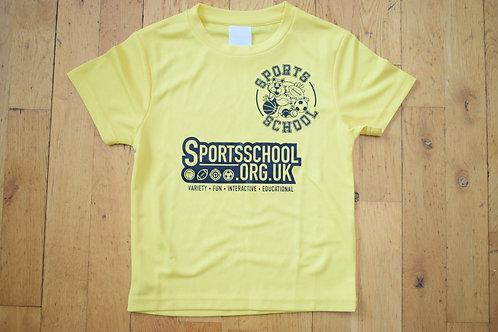 Sports School Saturday T-shirt - YELLOW