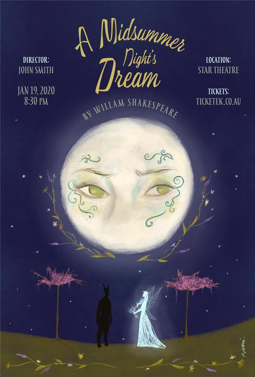Midsummer Night's Dream poster design