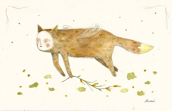 Flying fox- Watercolour on paper