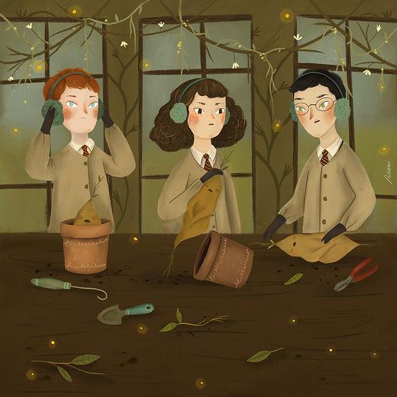 Harry Potter Mandrake Illustration