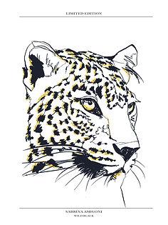 Leopard_30x40 cm_or et swarovski.jpg