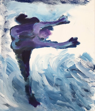 undine1, 2020,acrylic on canvas, 30x40cm