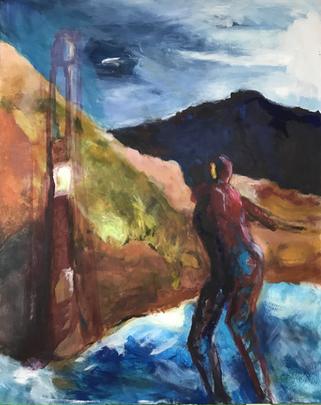 The Lighthouse, 2020, acrylic on canvas,