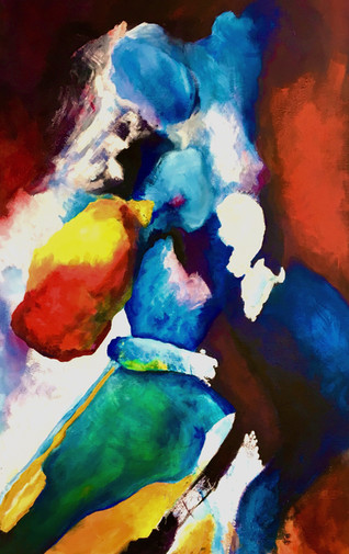 Amazone, 2020, acrylic on canvas, 90x150